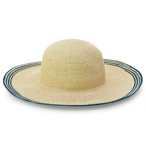 LIKA夢 Limehi 時尚造型大檐草帽 沙灘遮陽帽 可折疊帽 淺卡其 Lime-22-L