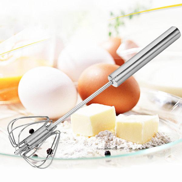 ✿現貨 快速出貨✿【小麥購物】按壓式旋轉打蛋器 不鏽鋼 攪拌器 奶泡器 半自動 烘焙 【G142】