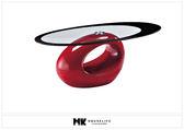 【MK億騰傢俱】BS181-03塑鋼造型玻璃茶几(紅)
