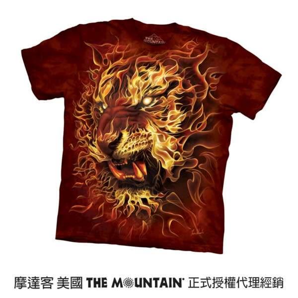 【摩達客】(現貨) 美國進口The Mountain 火虎 純棉環保短袖T恤(10416045103a)