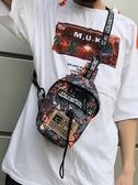 胸包男士2019新款夏季運動時尚潮流單肩背包情侶學生斜挎包女小包【免運】