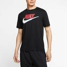 Nike Sportswear 男裝 短袖 休閒 運動 大勾 仿刺繡 純棉 百搭 黑【運動世界】AR4994-013