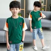 男童裝夏季裝兒童短袖t恤2019新品中大童男孩半袖上衣體恤潮韓版