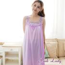 PinkLady浪漫絲縷珍珠絲 連身無袖睡裙23(紫)