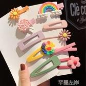 髮夾 網紅發卡韓國少女兒童小夾子頭飾女可愛女童寶寶發夾女孩公主發飾特賣