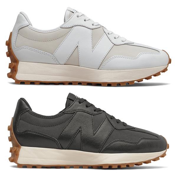 【現貨】New Balance 327 女鞋 休閒 復古 皮革 焦糖底 米白/黑【運動世界】WS327LA/WS327LB