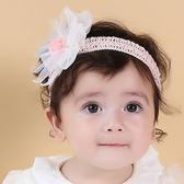 髮帶韓國款雪紡花毛球寶寶嬰兒髮帶頭帶送禮拍攝彌月婚禮果漾妮妮~P3973 ~