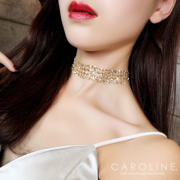 《Caroline》★韓國熱賣造型時尚  絢麗閃亮動人項鍊70990