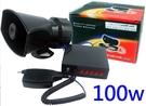 HORN 100W 12V 五音效 大聲公 五種音效+喊話功能 多功能警報喇叭 100W 警車音效 驅離音效 救護車