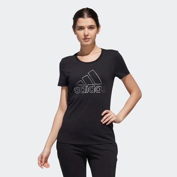 ADIDAS GFX T FOIL BOS 女裝 短袖 休閒 慢跑 透氣 舒適 棉質 黑【運動世界】DY8680