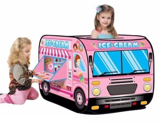 *粉粉寶貝玩具*糖果巴士球屋~冰淇淋甜點遊戲帳篷球屋