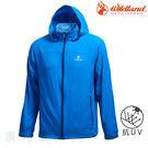 荒野 WILDLAND 男款彈性透氣抗UV輕薄外套 0A71906 中藍色 運動外套 排汗外套 防曬外套 OUTDOOR NICE