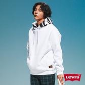 Levis 男款 重磅口袋帽T / 滑板系列 / 斑馬紋帽緣