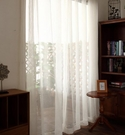 簡約現代質感日式窗簾 定制北歐美式麻色紗...