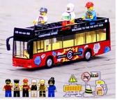 雙層巴士公共汽車兒童小汽車模型