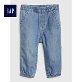 Gap嬰兒 舒適針織襯裡束口牛仔長褲 492678-水洗淡靛藍
