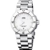 ORIS 豪利時 Aquis 時間之海專業潛水陶瓷機械手錶-白/43mm 0173376534156-0782601PEB