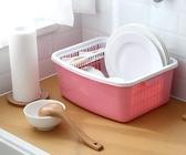 瀝水架帶蓋碗碟架裝碗筷收納箱置物架YJT 暖心生活館
