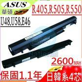 ASUS 電池-U48,U58,E46,V550,U48C,U48CA,U48CB,U48CM,U58C,U58CA,U58CB,U58CM, E46C,E46CA,E46CB,E46CM