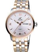 ENICAR 光輝時刻經典機械腕錶-銀/雙色版 3168-50-351G