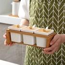 調味罐 廚房用品陶瓷調味罐三件套調料盒 莎拉嘿幼