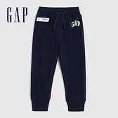 Gap女幼童 Logo漸層風格鬆緊針織褲 619620-海軍藍