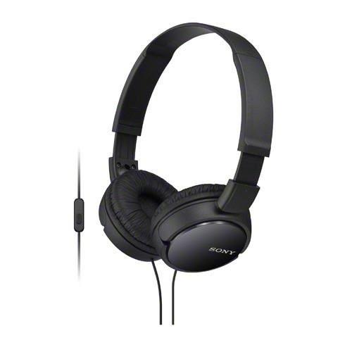 【公司貨-非平輸】SONY 手機通話耳罩式耳麥 MDR-ZX110AP-B 黑