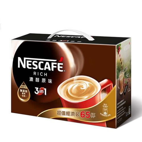雀巢咖啡三合一濃醇原味盒裝15g*65【愛買】