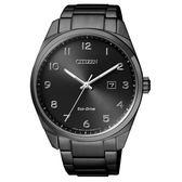 CITIZEN 時尚風格光動能腕錶/黑/BM7325-83E