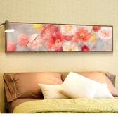 臥室床頭裝飾畫現代新中式客廳掛畫橫版花鳥油畫書房中國風餐廳畫  麻吉鋪