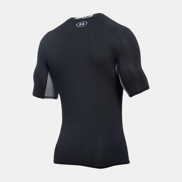 UA HG CoolSwitch [1271334-001] 男 短袖 強力 伸縮 運動 訓練 排汗 涼感 上衣 黑灰