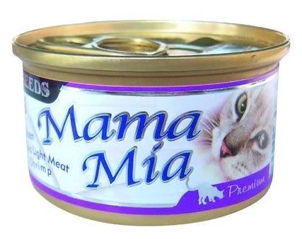 *WANG*【單罐入】聖萊西Seeds惜時《Mama-Mia 白肉貓罐85g》六種口味