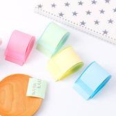 【A-HUNG】彩色膠帶捲紙式便利貼 可任意書寫黏貼 膠台 和紙膠帶 座 捲紙便利貼 留言紙 便籤紙