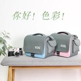 攝影背包 佳慧相機包單反側背文藝復古微單便攜男女攝影可愛80D200DM6800DLX 智慧e家