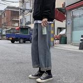 秋季新款韓版潮流潮牌百搭牛仔褲男士休閒長褲寬鬆闊腿直筒褲【免運快出】
