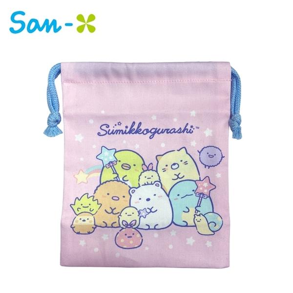 【日本正版】角落生物 棉質 束口袋 日本製 收納袋 抽繩束口袋 小物收納 角落小夥伴 San-X 778961