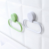 ✭慢思行✭【M180】多功能黏貼毛巾環 廚房 衛生間 抹布 掛架 毛巾架 收納 架子 擦手巾 晾曬