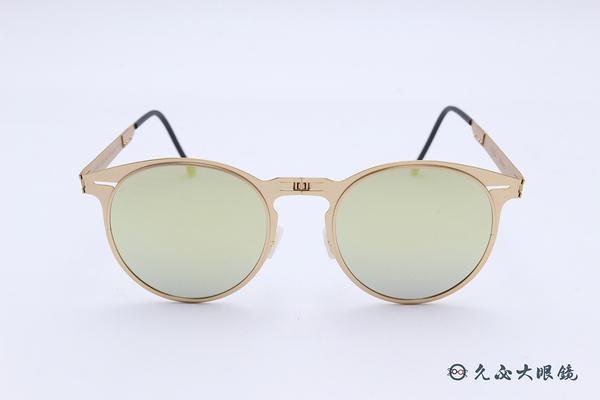 ROAV 偏光太陽眼鏡 Riviera - Mod.8103 ( 金框/黃水銀 ) 薄鋼折疊墨鏡