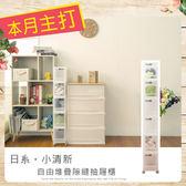 【dayneeds】LF日系小清新可自由堆疊六層細縫收納箱含輪