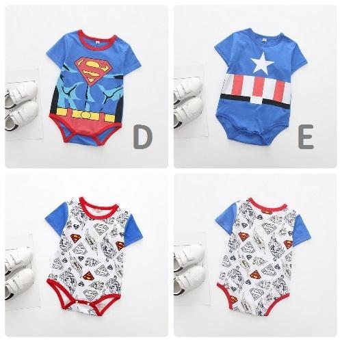 超級英雄短袖包屁衣 嬰兒哈衣 春夏兔裝 寶寶童裝 (XE0408) 好娃娃