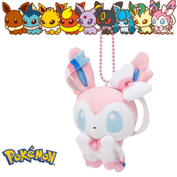 仙子伊布 仙子精靈 娃娃吊飾 玩偶 Q版 Pokemon 寶可夢 神奇寶貝 日本正品 該該貝比日本精品 ☆