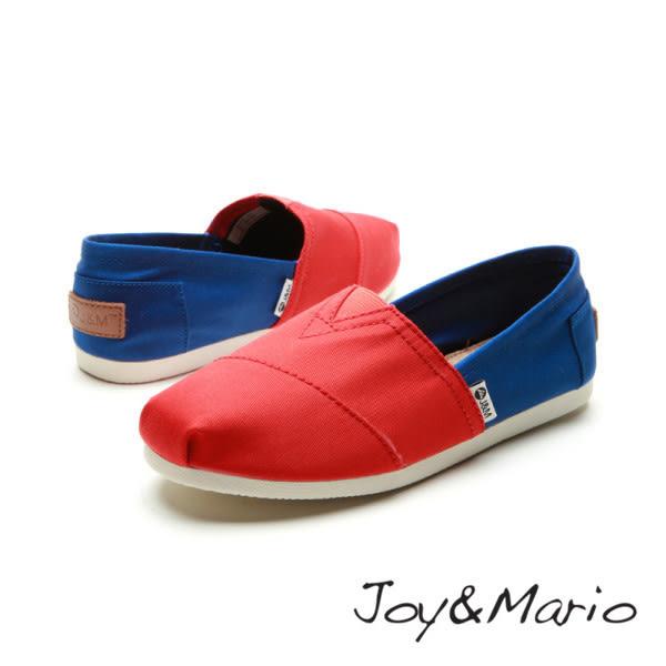 【Joy&Mario】拚色平底休閒鞋 - 61381W RED