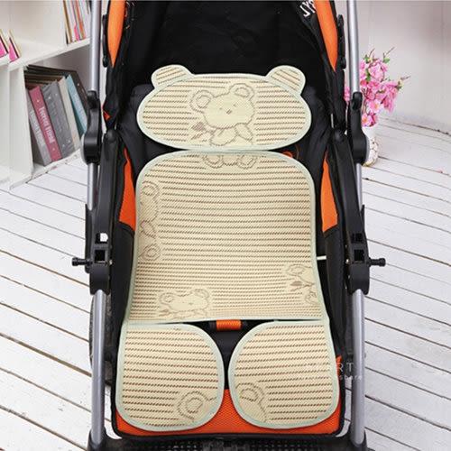 汽車安全座椅 天然植物纖維透氣嬰兒推車座墊涼蓆 手推車座墊 透氣座墊 透氣涼席