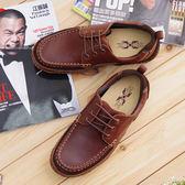 男 真皮休閒鞋 帆船鞋 工作鞋 馬汀鞋 大頭鞋《SV7711》HappyLife