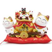 【金石工坊】五福臨門運寶車(高20CM)招財貓 開店送禮 開業禮品 撲滿存錢筒