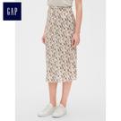 Gap女裝 活力波點印花花邊半身長裙 468671-靛藍彩色花朵圖案