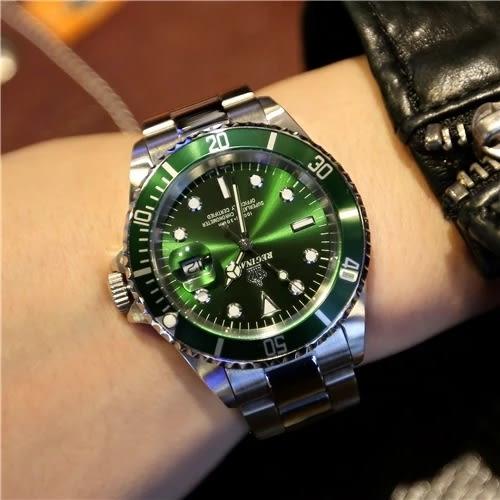 皇冠勞R家藍黑水鬼綠水鬼手錶 戶外軍錶潛水錶 特種飛行員石英錶  野外之家igo