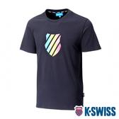 【超取】K-SWISS Neon Shield Logo Tee印花短袖T恤-男-黑