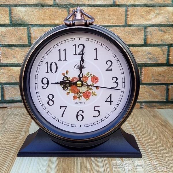 鬧鐘小鬧鐘靜音歐式創意床頭簡約老人床頭台鐘時尚小座鐘 鹿角巷