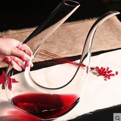 紅酒無鉛水晶快速醒酒器 玻璃分酒器家用帶把葡萄酒倒酒器酒壺具